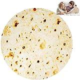 GZGZADMC Burritos - Manta Tortilla para picnic, manta suave y de peluche para oficina, casa, dormitorio, sofá, camping, viaje en pleno 150 cm