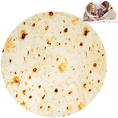 GZGZADMC Burritos - Manta Tortilla para picnic, manta suave y de peluche para oficina, casa, dormitorio, sofá, camping, viaje en pleno 200 cm