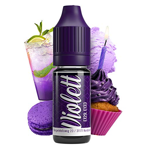 Lebensmittelfarbe Violett E129 & E133 Farbe Farbstoff extrem hoch konzentriert, flüssig zum Färben von Getränken, Teig, Toppings und alle anderen Lebensmittel