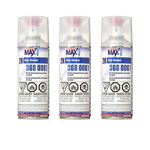 USC SprayMax 2K Glamour High Gloss Aerosol Clear (3 Pack)