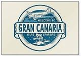 Imán para nevera con texto en inglés'Welcome to Gran Canaria', Islas Canarias