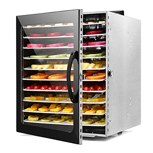 lxfy Premium Food Dehydrator Machine, 10 Tabletts mit digitalem Timer und Temperaturregelung für Rindfleisch, Trockenfleisch, Obst, Hundefutter, Kräuter