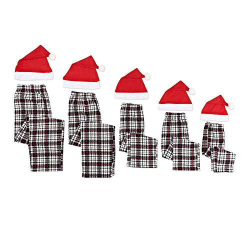 Mad Dog Concepts Toddler Black/White Plaid Sleep Pant with Xmas HAT