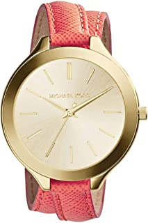 Michael Kors Women's Quartz Watch, Analog Display and Leather Strap MK2332