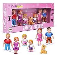 Playkidz Small Play People 7 Family Figures Set