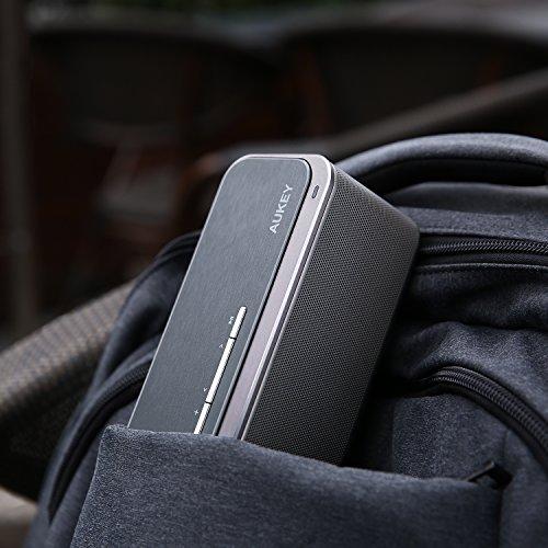 AUKEY Cassa Bluetooth 4.0 con 16W Doppio Driver e Bass-Radiatori, 12 Ore di Riproduzione, Altoparlante Wireless in Metallo per Echo Dot, iPhone, iPad, Samsung, Android ecc