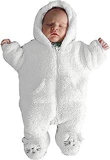 Muranba◕ᴗ◕ Newborn Infant Baby Boy Girl Hooded Cartoon Flannel Romper Jumpsuit Warm Clothes