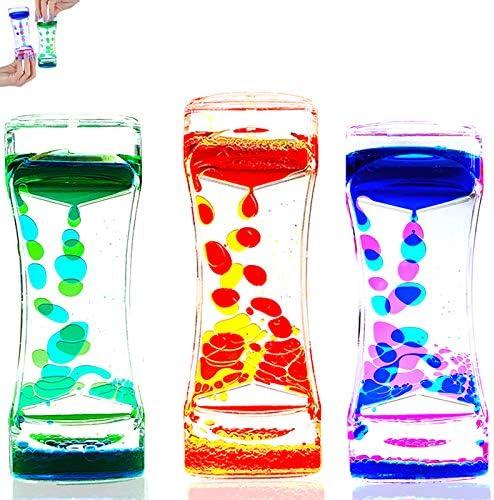 S SUPERLOVE 3 Pack Liquid Motion Bubbler Timer Sensory Calming Fidget Toy Autism Community Toys product image