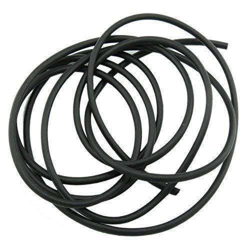 1m Kautschuk Band 2mm gefüllt schwarz aus Gummi