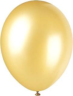 Unique Party - 80082 - Paquet de 8 Ballons Nacrés en Latex - 30 cm - Or