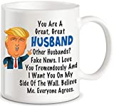 Donald Trump Terrific Husband Funny Coffee Mug Best Anniversary Birthday Valentines Day Gifts For Husband MenUnique Present Idea From Wife Fun Novelty Coffee Cup For Mr, Hubby Gag Gift for Christmas