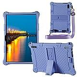 YHFZR Funda para ZONMAI MX2 Tablet 10.1 Pulgada, Silicón Ligera Carcasa Antideslizante con Soporte para los niños para ZONMAI MX2 Tablet 10.1 Pulgada, Morado