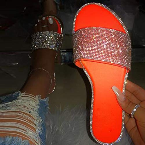 KCPer Sandals for Women Wide Width,Women's 2020 Crystal Comfy Platform Sandal Shoes Summer Beach Travel Fashion Slipper Flip Flops
