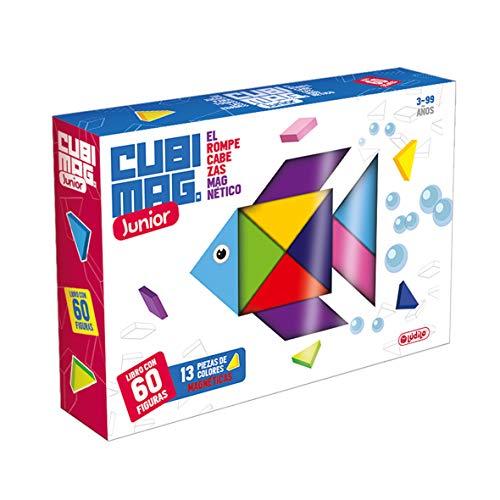 Lúdilo- Cubimag Jr niños, Rompecabezas magnético, versión Junior, Juegos Viaje, Juguetes educativos, Multicolor (80918)