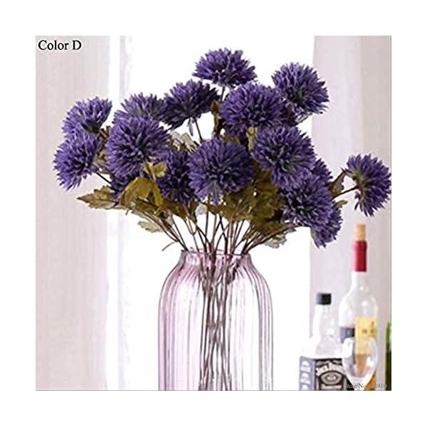 Ymwenj Fiore Decorativo Dalia Artificial Dahlia Araña Seca Artificial Flor de Seda Senior Hotel de Familia Boda…