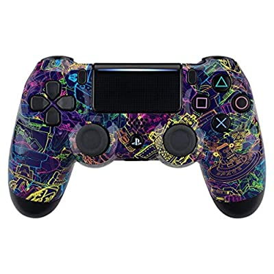 Neon Robot PS4 PRO Rapid Fire Custom Modded Controller 40 Mods for All Major Shooter Games BO4 & More (CUH-ZCT2U) …