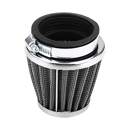 Aramox Filtres à air moteur Filtre d'admission d'air de moto, décapant universel de filtre d'écoulement d'admission d'air de moto avec une entrée de moteur de 42/48/50 / 60mm (42MM)