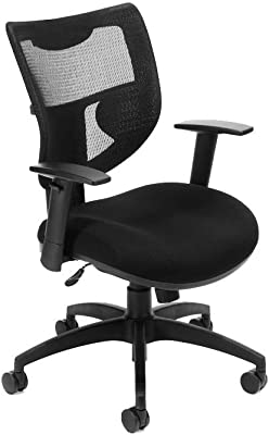 580 Series Mesh and Fabric Mid-Back Ergonomic Chair Dimensions: 28
