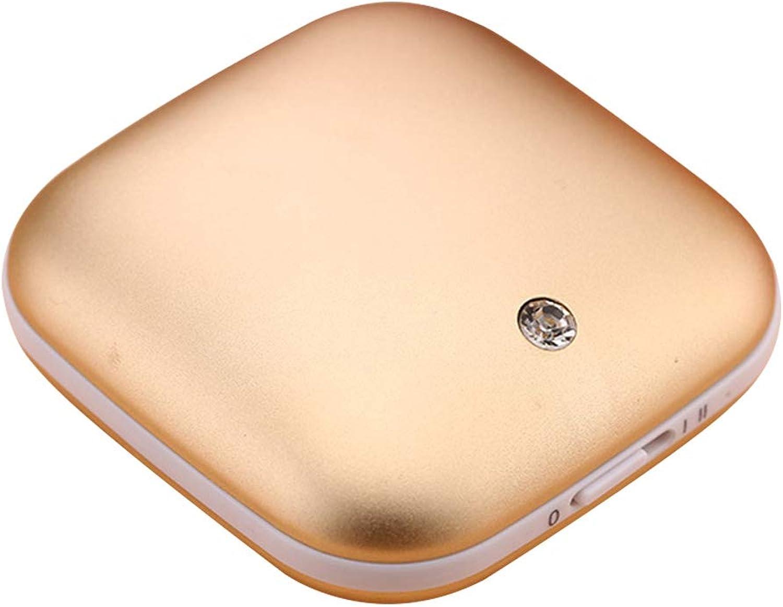 BYSK Wiederaufladbare Handwärmer Dual-Use Doppelseitige Heizung (Liebhaber) Mini Tragbare Mobile Power USB Schnellladegerät 3500Ah,Gold B07HRQXG6X  Haltbarkeit