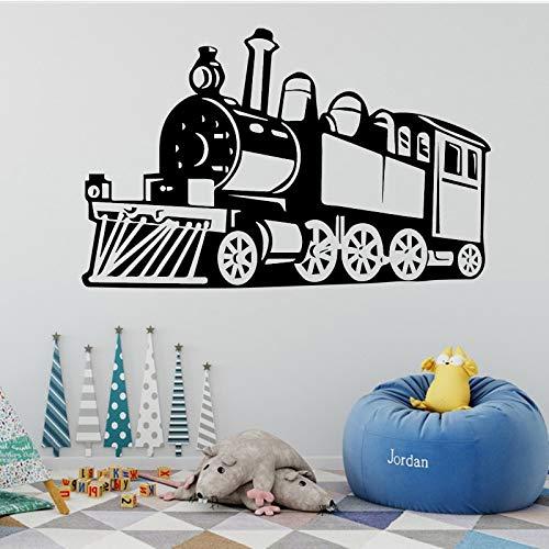 Pegatinas de pared de tren calcomanías de pared extraíbles decoración niños habitación mural cartel patrón pegatinas de pared A6 43x67cm
