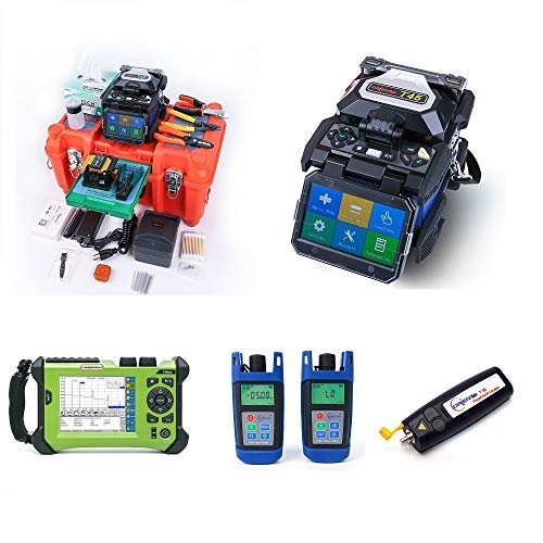 New ORIENTEK Practical FTTH Tools Kit : T45 Fusion Splicer + SV20A OTDR SM 1310/1550nm + Optical Pow...