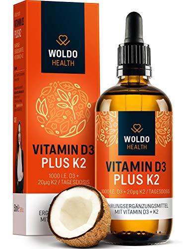 Vitamin D3 + K2 Tropfen 50ml 99,7% All-Trans K2VITAL von Kappa