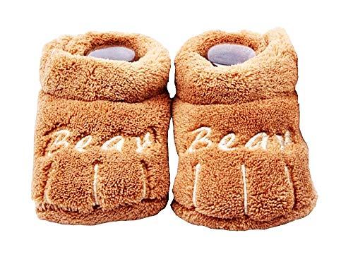 Zapatos para niños - bebés - Invierno - cálido - Unisex - Talla 6/12 Meses - marrón - Idea de Regalo de cumpleaños