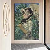 KWzEQ Fille Tenant Un Parapluie Peint sur Toile Affiche Mur Art Peinture décoration décoration de la Maison Moderne,Peinture sans Cadre,80x120cm