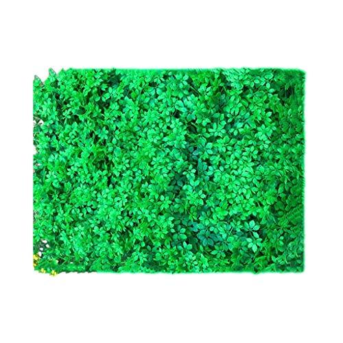 PING- Artificiel Haie Plante Panneau Mur, Pelouse Feuille D'érable PE De Haute Qualité 40x60cm / Pièce Décoration De Clôture De Clôture UV Extérieure Vert Rouge (Color : Green, Size : 16Pack)