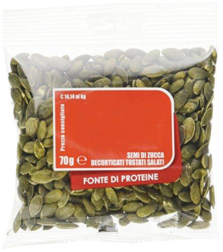 EuroCompany Semi di Zucca Decorticati Tostati e Salati - 70 gr - [confezione da 14]