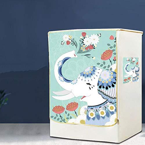 Kühlschrank Staubdicht Abdeckung Waschmaschine Abdeckung Mehrzweck Waschmaschine Home Dekorative Waschmaschine Cover Wasserdichte Schutzvorrichtungen Front Cover Glückverheißender Elefant 60X60X85Cm