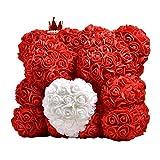 Rose Bär Spielzeug, Bär geformt künstliche Blumen Puppen für Weihnachten Neujahr Halloween...