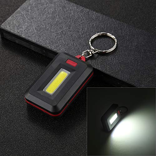 Lampe de poche 3W lampe de poche LED lumière blanche petit portable COB avec porte-clés, lampe LED de livraison de couleurs aléatoires