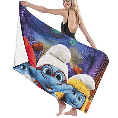 Custom made Toalla de playa de los Pitufos, diseño súper suave, perfecta para nadar, la playa o el baño, multicolor, 80 x 130 cm
