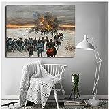 sjkkad Bürgerkrieg Schlachten Thomas Leinwand druckt Bild Moderne Gemälde für Wohnzimmer Poster an der Wand Home Decoration -60x90cm No Frame