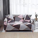 ASCV Funda de sofá Fundas elásticas Funda de sofá Todo Incluido para sofá en Forma de L Silla de Dos plazas Funda de sofá Estilo L A8 2 plazas