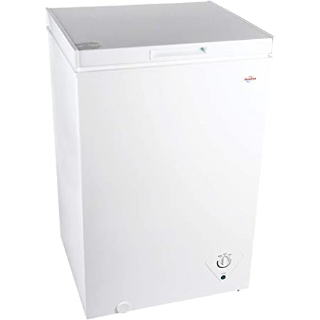 Koolatron Compact Chest Freezer with flip-up lid and 3.5 Cubic Feet Capacity - Mini Indoor Chest Freezer ideal for Apartment, Condo, Office, RV, Cabin, Small Kitchen