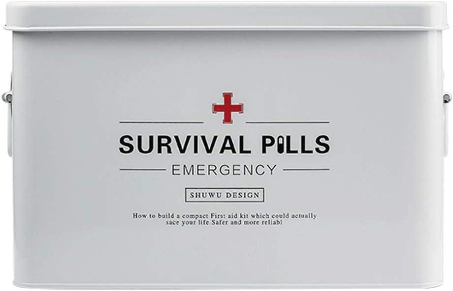 Pill Box Galvanized Iron Household OFFer box Medicine medicine Raleigh Mall Storage