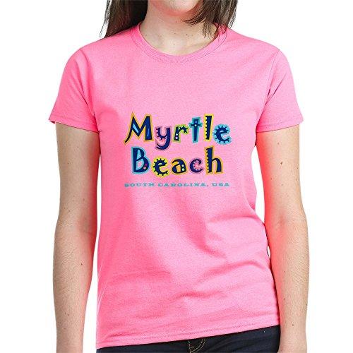 CafePress - MB Tropical Type - Damen T-Shirt aus Baumwolle Gr. M, rose