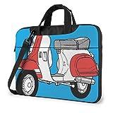 Borsa per laptop con stampa retrò di scooter per motociclette, valigetta per borsa a tracolla per laptop