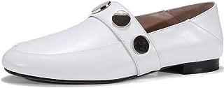 Nine Seven Women's Leather RoundToe Heel Flats