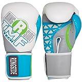 Ringside Women's IMF Tech Boxing Training Sparring Gloves, 12-Ounce, White/Blue