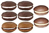 Classic Maine Made Whoopie Pies Individually Wrapped and Guaranteed Fresh Great Gift Ideas for Holidays and Birthdays Doesn't Require Refrigeration 4 Chocolate, 2 Peanut Butter and 2 Maple (6 ounces each)