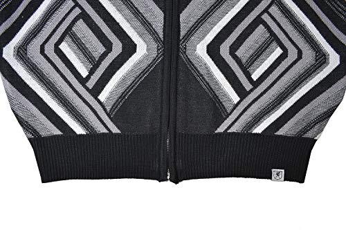 STACY ADAMS Men's Full Zippered Winter Sweaters