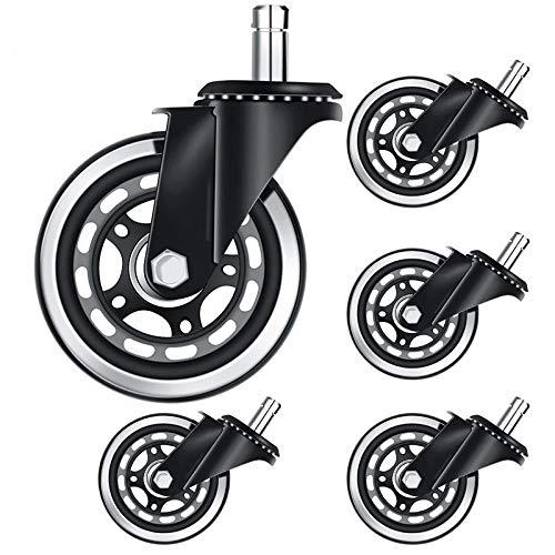 Fransande - Silla de oficina con ruedas de 3 pulgadas y ruedas de repuesto para silla de juegos, ruedas universales Molle los rodillos S?rs(11x22)