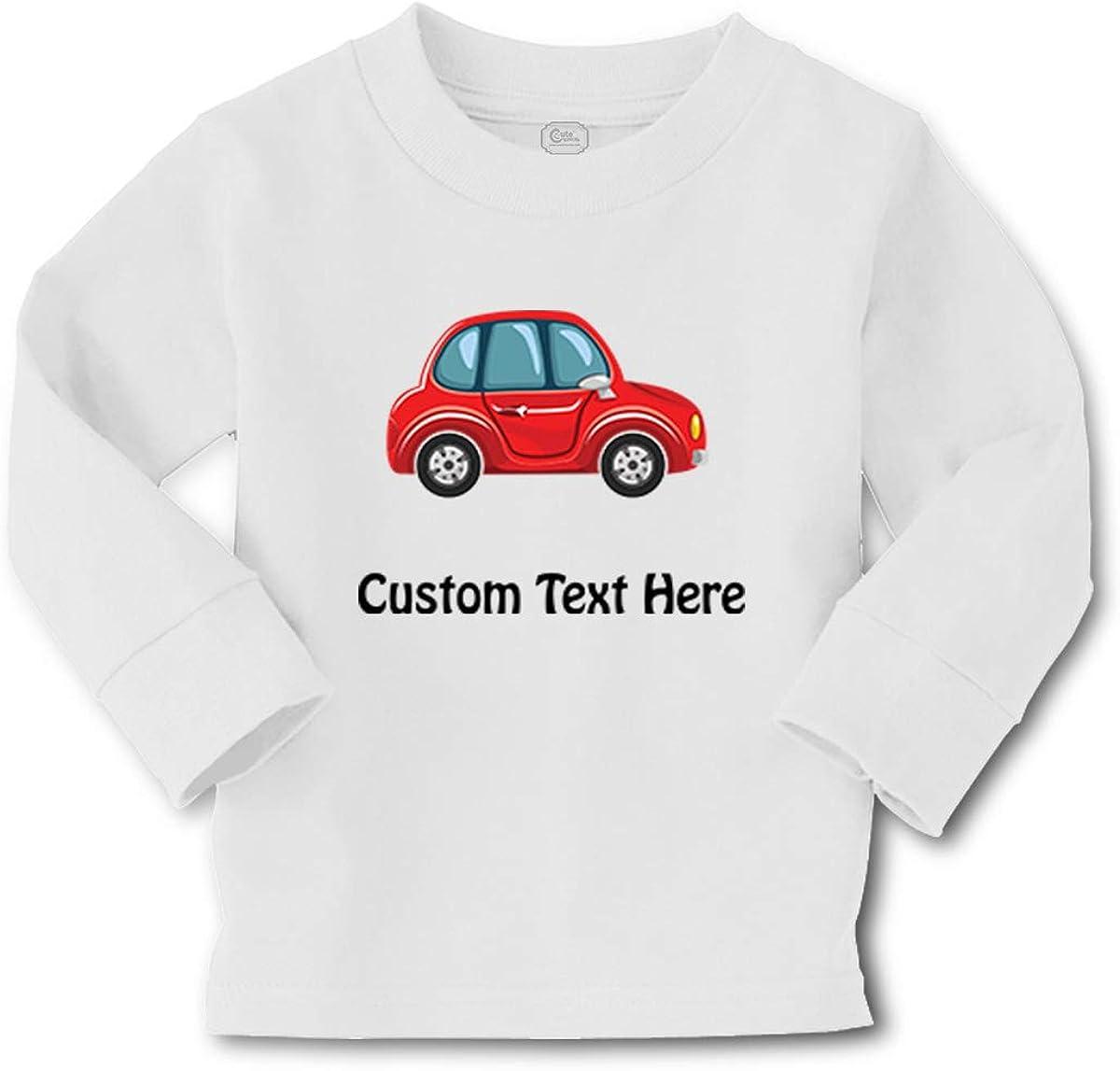 Cute Rascals Kids Long Sleeve T Shirt Red1 Little Car Auto Transportation Boy & Girl Clothes