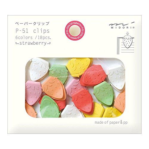 Midori Paper Clips, Strawberry, 18 Pieces (43316006)