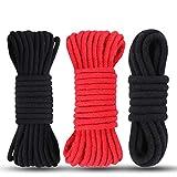 2x 10m Bondageseil Bondage Seil Fesselseil SM Spielzeug Fesselspiele 1x5m Bondageseil BDSM Seil Bondage Requisiten Schwarz Rot By Luvsex -