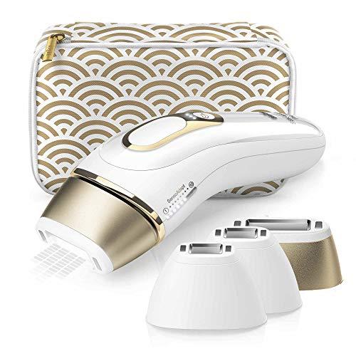 Braun IPL Silk expert Pro 5 PL5137MN - Depiladora láser de luz pulsada de última generación, depilación permanente del vello visible, blanca y dorada