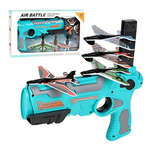 wintom Avión de Juguete con catapulta de Burbujas, Modelo de eyección con un Clic, Modelo de Planeador, Juguete Deportivo al Aire Libre para niños y Adultos a Partir de 3 años